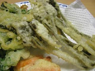 ワラビと菜の花の天ぷら